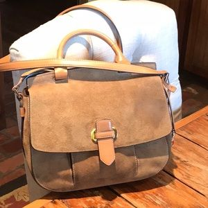 Michael Kors Large Suede and Leather Tan. Satchel